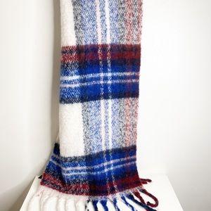 Hollister large oversized plaid scarf wrap soft
